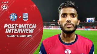 Jamshedpur FC's Farukh Choudhary Reviews Mumbai City FC Clash | Hero ISL 2019-20