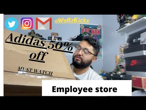 Must Watch!!!!! 300$ Adidas Shoes for 150$… Another Adidas Employee store pick up