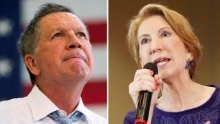 Carly Fiorina calls on John Kasich to drop out