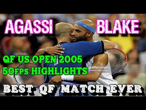 BEST QF MATCH EVER!! Agassi v Blake ● US Open 2005 Highlights