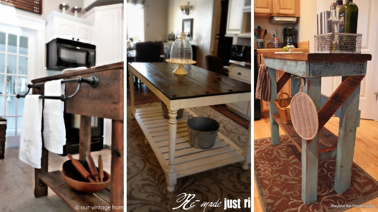 10 Diy Cheap Kitchen Island Ideas For People With Low Budgets Youtube