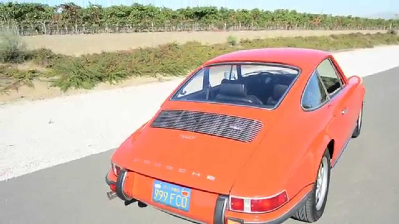 1972 Porsche 911t Tangerine Sportomatic Coupe Youtube