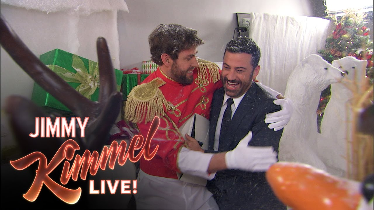 Jimmy Kimmel Christmas.John Krasinski And Jimmy Kimmel S Christmas Prank War