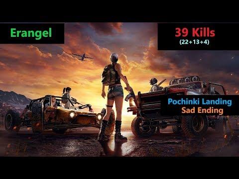"[Hindi] PUBG Mobile | Amazing ""22 Kills"" In Erangel Map With Sad Ending"