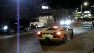 Idiot driving a Lambo in Oklahoma City