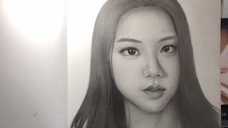 Blackpink Jisoo drawing finished