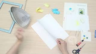 ВОЛШЕБНАЯ МАСТЕРСКАЯ   Набор для творчества 3 D картина из фоамирана Ирисы