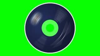 CD Gizli Spin - Yeşil Ekran Animasyon