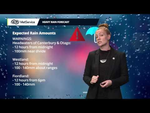 MetService Severe Weather Warning