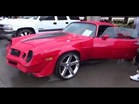 Red 1980 Z 28 Camaro On 22 Irocs Stuntfest2K14 YouTube