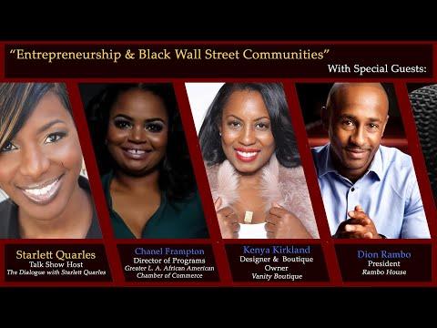 """Entrepreneurship & Black Wall Street Communities"" with Starlett Quarles on KJLH's ""Front Page"""