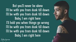 dusk till dawn   zayn ft sia lyrics