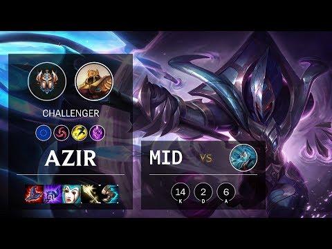 Azir Mid vs Zilean - EUW Challenger Patch 10.9