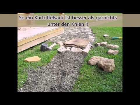 gartenweg selbst gebaut natursteinweg aus feldsteinen youtube. Black Bedroom Furniture Sets. Home Design Ideas
