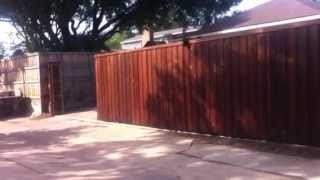 Custom Automatic Slide Gate - Lone Star Outdoor Creations