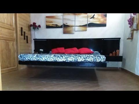 How it's made-My real floating bed-Letto sospeso e cabina armadio con murales reagente agli uv