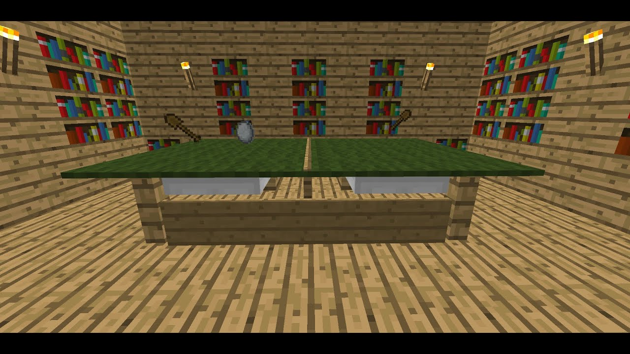 Minecraft Comment faire une table de ping pong TUTO  YouTube