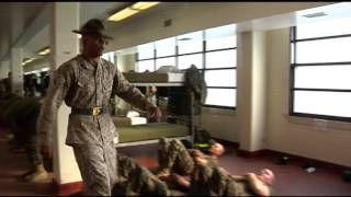 Marines Corps Boot Camp-Parris Island DI punishment