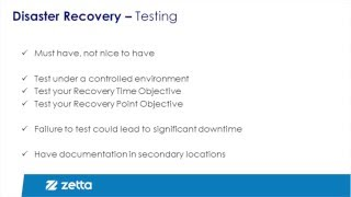 Disaster Recovery Planning Step 4: Testing