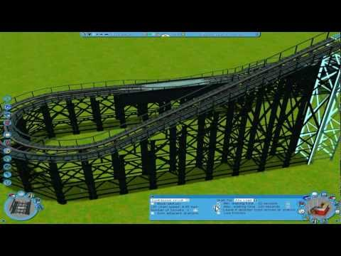 Roller Coaster Tycoon 3 - How to make a coaster [HD]