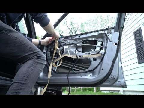 E46 3 Series BMW Window Regulator Removal and Replacement Repair DIY 4K