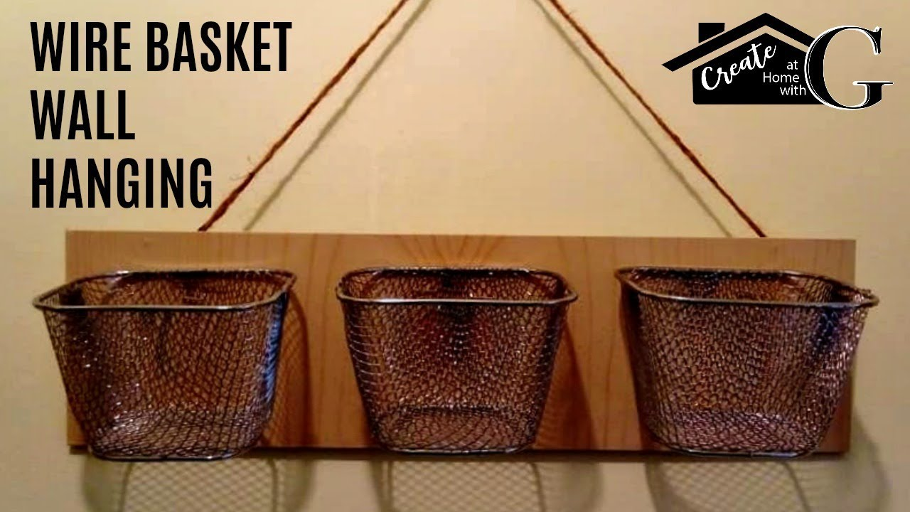 Farmhouse Trio Wire Basket Wall Hanging