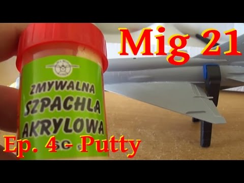 Model Mig 21 Bis - 1/72 Zvezda - Putty - English Subtitles