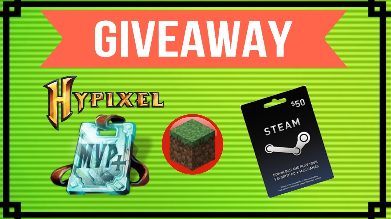 minecraft gift card minecraft giveaway hypixel mvp rank steam 50 gift 4682