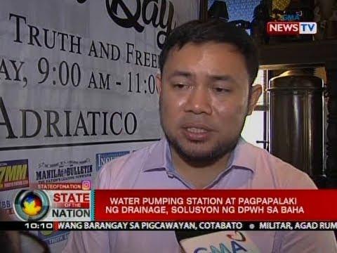 SONA: Water pumping station at pagpapalaki ng drainage, solusyon ng DPWH sa baha