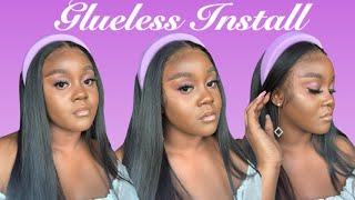 HOW TO INSTALL YΟUR WIG GLUELESS | BEGINNER FRIENDLY | TASSY LOVE