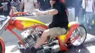 6th gear custom bike burnout