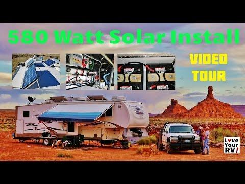 My Friends Awesome 580 Watt RV Solar Power System