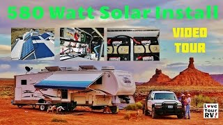 My Friends Awesome 580 Watt RV Solar Power System