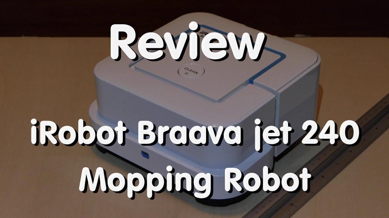Mopping robot - iRobot Braava jet 240 - Review [4K]