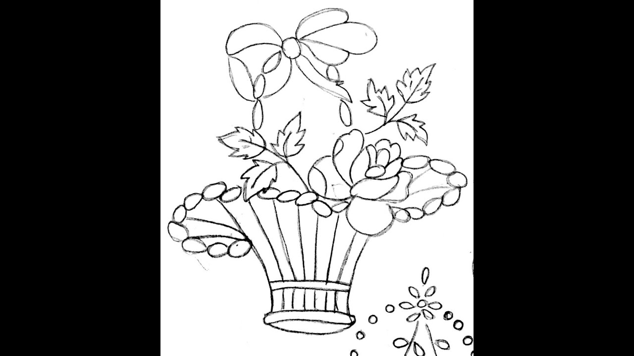 Best flowerpot designs for embroidery drawing fabric for Design patterns for pot painting