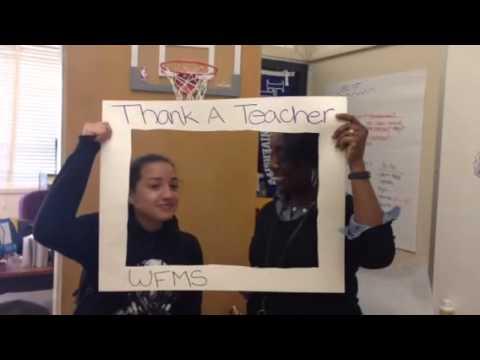 Thank a Teacher...From Frick Middle School