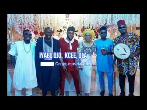 Iyabo Ojo, kcee, Olamide Baddo, DJ Jimmy Jatt On set, musicial video of WE GO PARTY