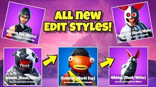 NOUVEAU EDIT STYLES FOR FISHTICK, SHADOW OPS - GROWLER! Fortnite Battle Royale (New Skin Styles)