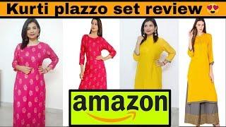 Amazon kurti plazzo set review | online shopping review | kurta plazzo set haul |kurti plazzo review