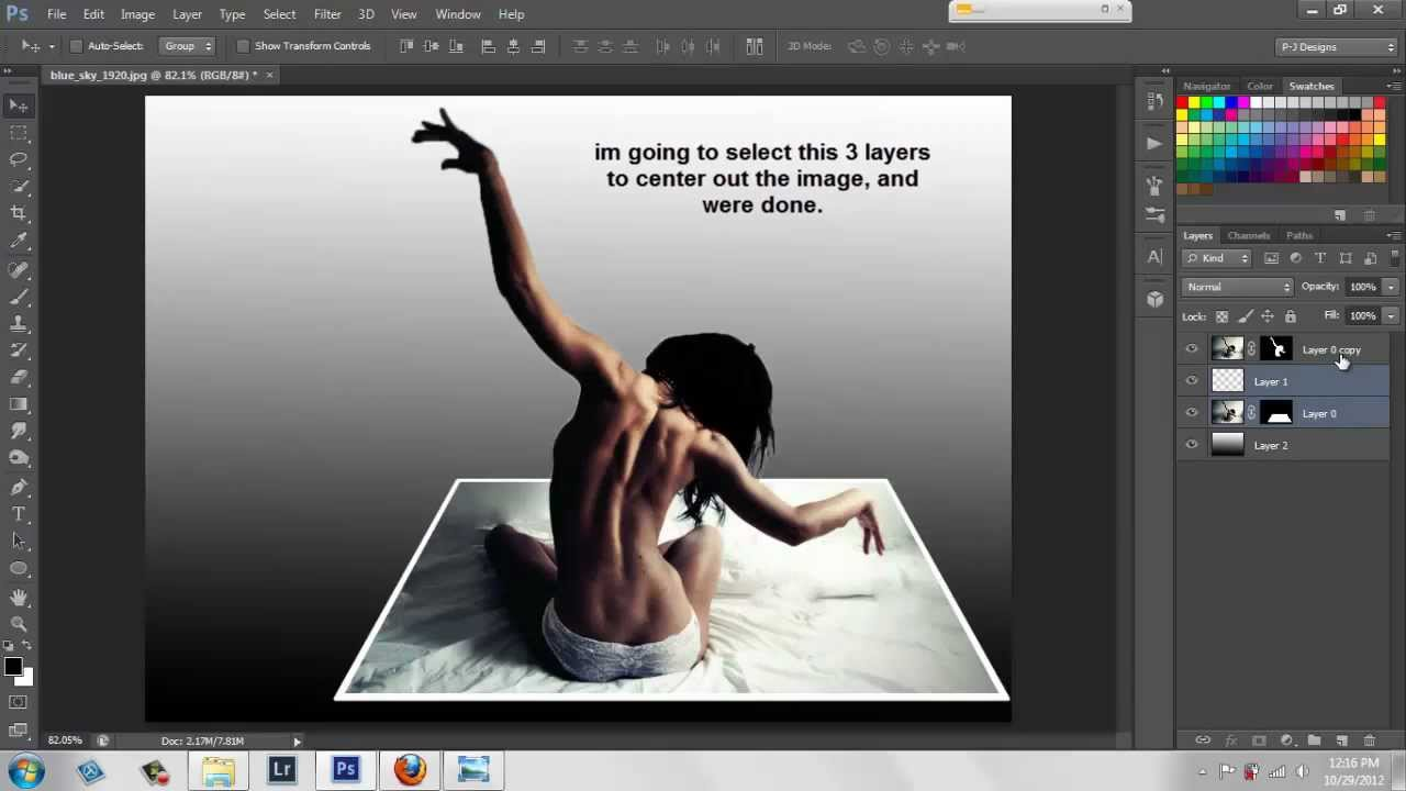 out of frame │ 3d pop out image │ Photoshop cs6 tutorial - YouTube