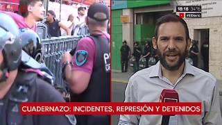 Incidentes, represión y detenidos en el