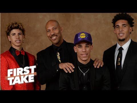 LaVar Ball Says Middle Son LiAngelo Ball Won't Make NBA    First Take   June 22, 2017