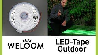 LED Tape Outdoor - Auf was Sie achten sollten - Gartenbeleuchtung und Fassadenbeleuchtung