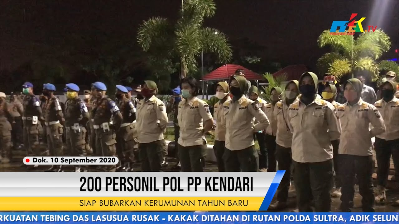 200 Personil Pol PP Kendari Siap Bubarkan Kerumunan Tahun Baru