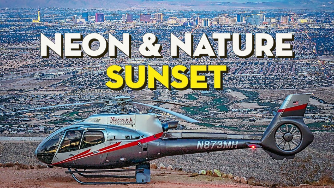 Best Sunset Views of Las Vegas! | Helicopter Landing Flight by Maverick Helicopters