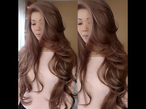 "My 24""hair extensions and roller set styling."