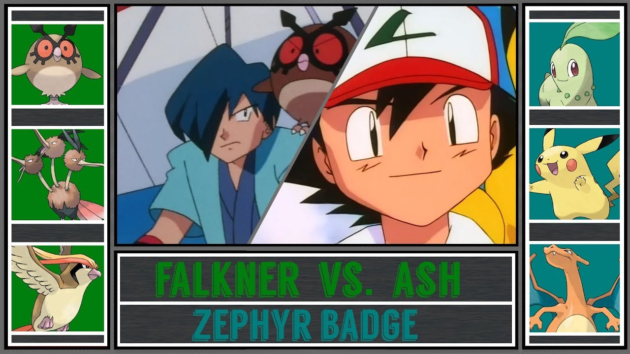 Ash Vs Falkner Pokémon Sun Moon Violet Gym Zephyr Badge