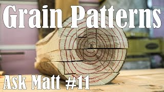 Sawing Logs To Achieve Different Grain Patterns - Ask Matt #11