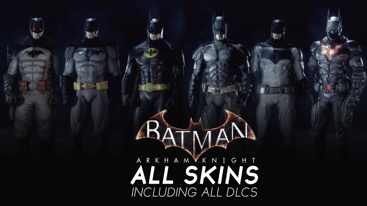 Batman The Dark Knight Car Wallpaper Batman Arkham Knight All Skins Youtube
