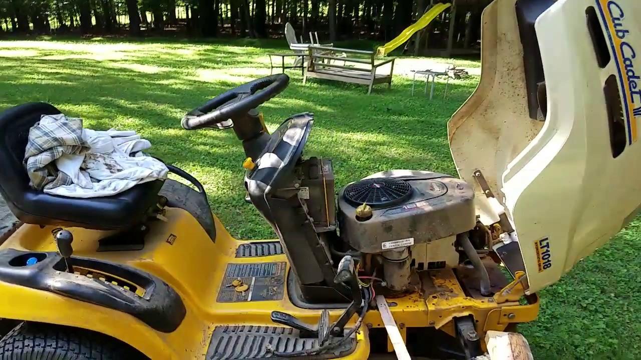 cub cadet lt1018 transmission drive belt replacement [ 1280 x 720 Pixel ]